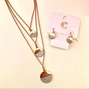 NWT Charming Charlie Necklace and Earring Set
